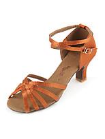54f170dd9da8 cheap Dance Shoes-Women  039 s Latin Shoes Satin Heel Cuban Heel Dance