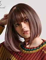 5faa790417e billige Parykker & hair extensions-Syntetiske parykker Kinky Glat /  Naturlig lige Stil Bob