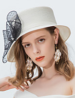 9466fe0716ba0 cheap Party Headpieces-Polyester Straw Hats with Bowknot 1pc Casual   Daily  Wear Headpiece