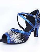 6ddd824f41 olcso Tánccipők-Női Latin cipők Műbőr Magassarkúk Kubai sarok Személyre  szabható Dance Shoes Arany / Új