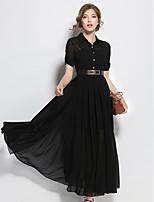 67f8ddcb9d abordables Vestidos de Mujer-Mujer Línea A Vestido Un Color Midi