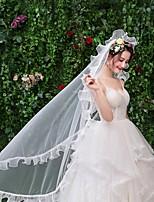 0b3660ce56 olcso Esküvői kiegészítők-Egykapcsos Csipke Menyasszonyi fátyol Ujjakig érő  fátyol val vel Tartós Csipke /