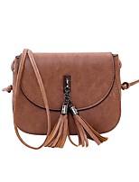 832b5f41f2d Χαμηλού Κόστους Τσάντες-Γυναικεία Τσάντες PU Σταυρωτή τσάντα Φερμουάρ /  Φούντα Συμπαγές Χρώμα Μαύρο /