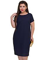 f4a897af1d olcso Molett ruhák-Női Alap Egyenes Hüvely Ruha - Szegecs, Egyszínű Midi