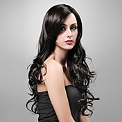 negro peluca Pelucas para mujeres Ondulado Las pelucas del traje Pelucas de Cosplay