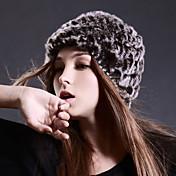スキー キャップ 女性用 保温 / 防風 スノーボード ウール コーヒー ゼブラプリント スキー / スノースポーツ / スノーボード 冬