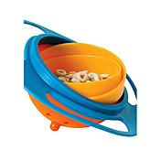 bebé del niño del juguete de alimentación giroscopio chica platos recipiente no derrame universal de 360 rote