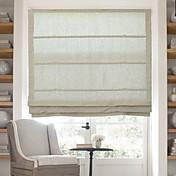 clásica de algodón de lino sólida cortina romana