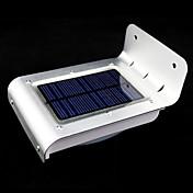 屋外の太陽光発電16 LEDモーションセンサー検知器のセキュリティガーデンライトランプ