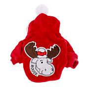 Perro Abrigos Saco y Capucha Ropa para Perro Navidad Rojo Azul Disfraz Para mascotas