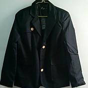 MIDOOメンズブラックブレンドファッションスキニーバックルスーツのコート