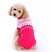 犬用品 セーター ローズピンク 犬用ウェア 冬 春/秋 蝶結び キュート ファッション