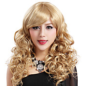 Mujer Pelucas sintéticas Rizado Rubia Peluca de Halloween Peluca de carnaval negro peluca Pelucas para Disfraz