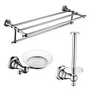 Set de Accesorios de Baño Barroco Soporte para Papel Higiénico Plato para Jabón Calentador de Toallas