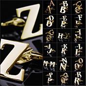 V W X Y Z カフスボタン 銅 男性用 コスチュームジュエリー