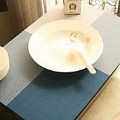 マルチカラーシンプルなスクエアパターン付きテーブルマットディナー、L45cm×幅30センチメートル、耐熱PVCの