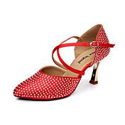 Cetim superior Buckle Latina Ballroom Dance Shoes Sandálias das mulheres (mais cores) (Escolha um tamanho maior)