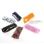 DIY twistzシリコーンbandzゴムバンドは600pcsバンドと24秒クリップと子供のための虹色織機ブレスレット