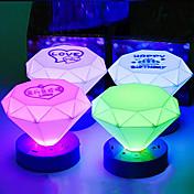 円錐形のカラフルなABS LEDナイトライト(ランダムカラー)