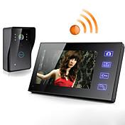 Inalámbrica 7 pulgadas lcd pantalla táctil teléfono de intercomunicación video puerta de timbre cámara de seguridad de la cámara de vigilancia