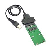 "usb 2.0 para el mini pci-e mSATA SSD 1.8 ""micro sata adaptador 7 + 9 16pin agregar en las tarjetas pcba para disco duro ssd"