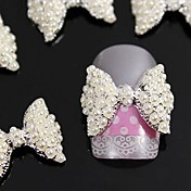 10stk 3d perle butterfly legering tilbehør nail art dekoration