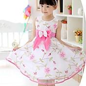 Vestido Chica de Floral Algodón Sin Mangas Verano