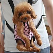 Gato Perro Transportines y Mochilas de Viaje Frente Mochila Mascotas Cubiertas Portátil Lazo Rosa Para mascotas