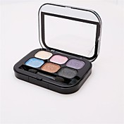 6 Paleta de Sombras de Ojos Mate Paleta de sombra de ojos Polvo Normal Maquillaje de Diario
