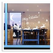 zooyoo® lindo colorido pvc extraíble imagen carrige navidad de pegatinas etiquetas de la pared vendedora caliente para la decoración del