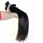 Cabello humano Cabello Peruano Tejidos Humanos Cabello Liso Extensiones de cabello 1 Pieza Negro
