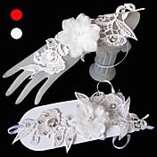 チュール手首の長さの手袋花嫁の手袋古典的な女性的なスタイル