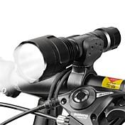 LED懐中電灯 自転車用ヘッドライト LED サイクリング 焦点調整可 18650 ルーメン バッテリー キャンプ/ハイキング/ケイビング 日常使用 サイクリング 狩猟 釣り 旅行 ワーキング バイク用-West biking