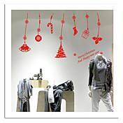 zooyoo® lindo colorido pvc desmontable colgante Foto de Navidad de pegatinas etiquetas de la pared vendedora caliente para la decoración