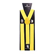 partido de los hombres / novio causal amarillo liga de nylon sólido
