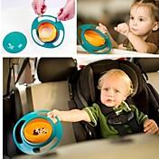 1pc 360 grados never-spill-food baby bowl tumbler comiendo herramientas