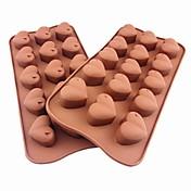 15 rupa oblik srca glazura Jelly čokolade kalupe, silikonska 21 × 10,5 × 2,5 cm (8,3 × 4,1 × 1.0inch)