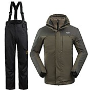 Hombre Chaqueta y pantalones de Esquí Impermeable Mantiene abrigado Resistente al Viento Esquí Deportes de Invierno 100% Poliéster