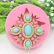 šperky ve tvaru fondant dort čokoláda Silikonová forma, druh cukroví dekorace nářadí, l6.9cm * w6.9cm * h2.1cm