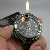 Hombre Reloj de Pulsera Reloj creativo único Cuarzo encendedor Silicona Banda Negro Blanco Negro