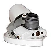 オリンパスペンE-PL7の17ミリメートルとepl7または14〜42ミリメートルレンズ用dengpin®PUレザーカメラケースバッグカバー