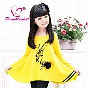 娘doll®女の子のファッションと素敵な漫画長袖の着用Tシャツ