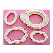 フォンダンシリコーンモールド石鹸、キャンドル金型のシュガークラフトケーキデコレーションツールSM-249形のミラーフレーム