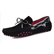 Hombre Zapatos Semicuero Primavera Verano Otoño Mocasín Suelas con luz Zapatos De Buceo Calzado de Barco Con Cordón Para Casual Gris Azul