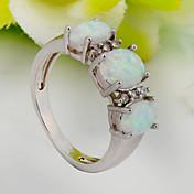 Mujer Anillos de Diseño Moda Piedras preciosas sintéticas Zirconio Zirconia Cúbica Diamante Sintético Joyas Boda Fiesta Diario Casual