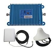 la inteligencia de banda dual GSM / DCS 900 / 1800MHz señal de refuerzo amplificador de teléfono móvil + kit de antena de placa de calle