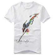 Camisetas ( Algodón Orgánico )- Casual Redondo Manga Corta