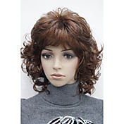 女性 人工毛ウィッグ キャップレス ロング丈 ウェーブ バング付き ナチュラルウィッグ コスチュームウィッグ
