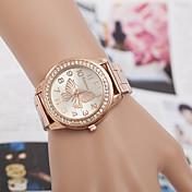 yoonheel Mujer Simulado Diamante Reloj Reloj de Moda Cuarzo La imitación de diamante Metal Banda Plata Dorado Oro Rosa