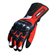 オートバイグローブ フルフィンガー 竹炭素繊維 L/XL/XXL レッド/ブラック/ブルー